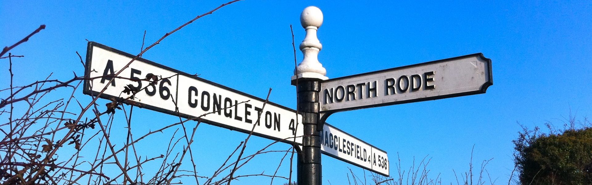 North Rode, Congleton, Macclesfield Sign